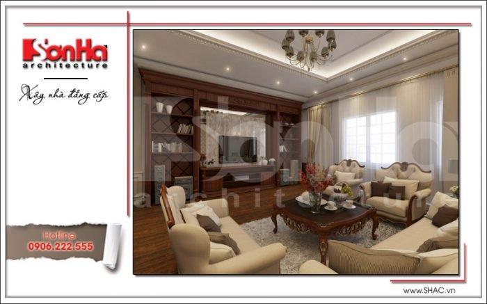 Mẫu thiết kế nội thất phòng sinh hoạt Vincom Shophouse tại Hải Phòng