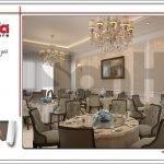 Thiết kế nội thất phòng ăn khách sạn tại Quảng Ninh sh ks 0037