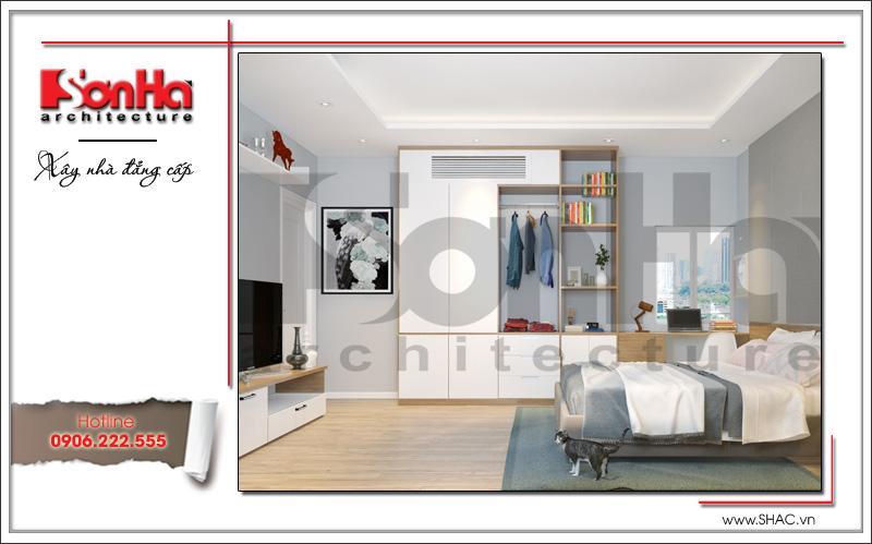 Thiết kế nội thất phòng ngủ con trai biệt thự tân cổ điển tại Hải Phòng sh btp 0104