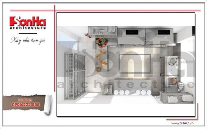 Mẫu Thiết kế nội thất phòng bếp khách sạn tại Quảng Ninh sh ks 0037