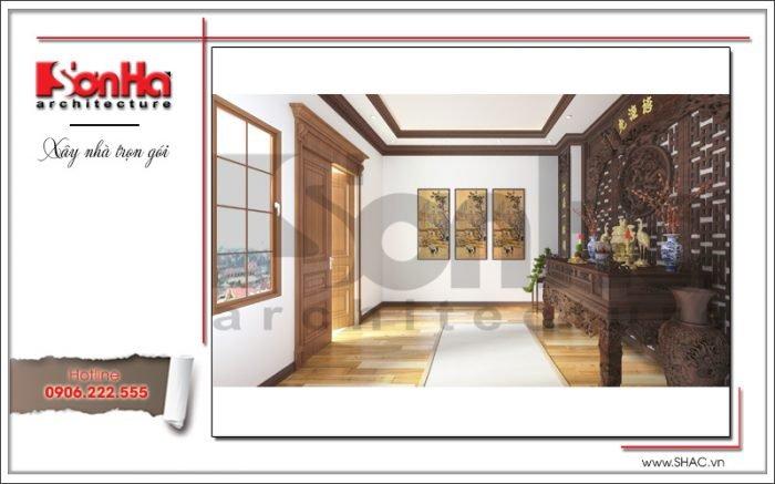 Mẫu thiết kế phòng thờ khách sạn tại Quảng Ninh sh ks 0037