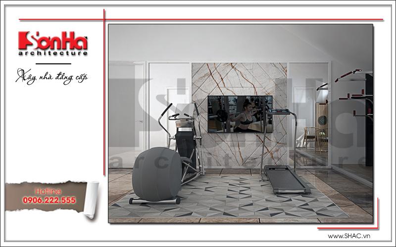 Thiết kế nội thất phòng tập biệt thự tân cổ điển tại Hải Phòng sh btp 0104
