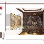 Thiết kế phòng thờ khách sạn tại Quảng Ninh sh ks 0037