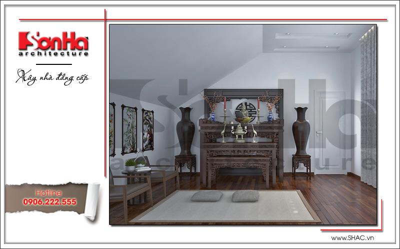 Thiết kế nội thất phòng thờ biệt thự tân cổ điển tại Hải Phòng sh btp 0104