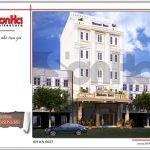 Mẫu kiến trúc mặt tiền khách sạn tại Quảng Ninh sh ks 0037