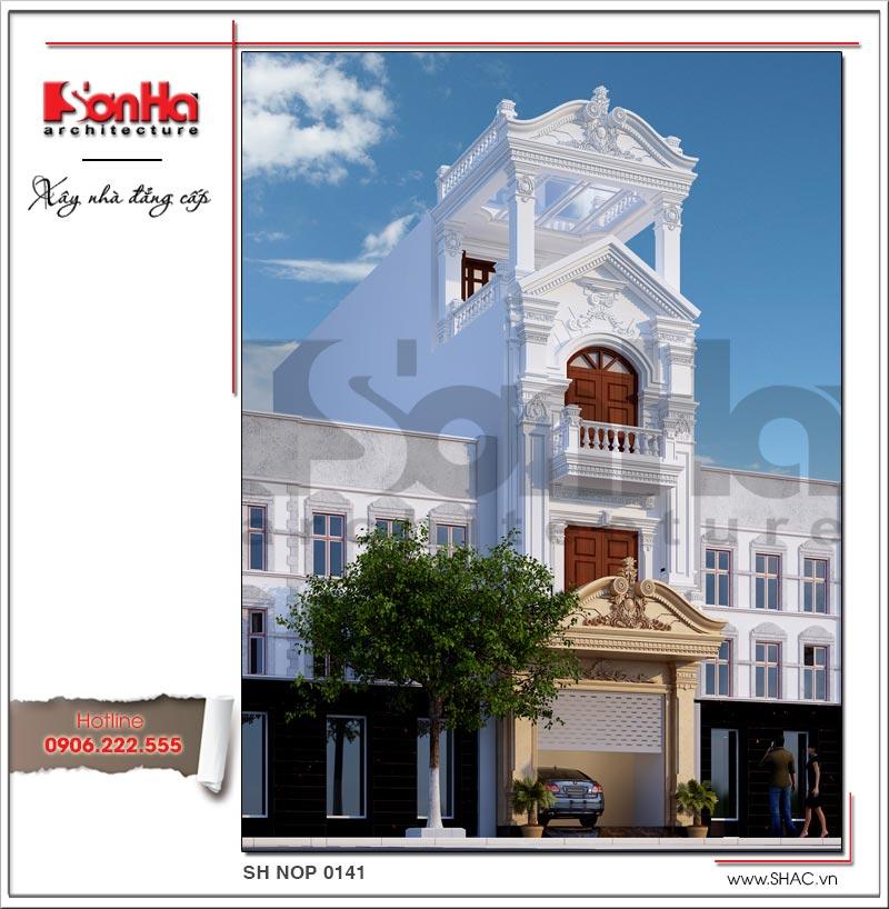 Mẫu thiết kế nhà phố cổ điển 4 tầng đẹp có nội thất tiện nghi tại Quảng Ninh – SH NOP 0141 1