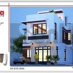 Thiết kế kiến trúc mặt tiền biệt thự hiện đại tại Quảng Ninh sh btd 0058