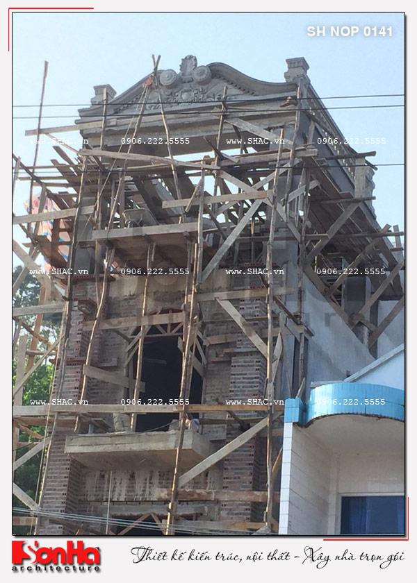 Xây nhà trọn gói công trình nhà phố cổ điển 4 tầng tại Quảng Ninh – SH NOP 0141 9