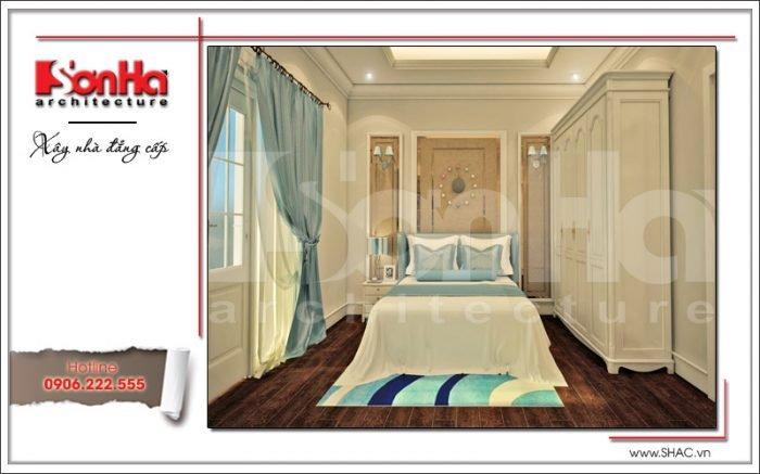 Mẫu thiết kế nội thất phòng ngủ con gái Vincom Shophouse tại Hải Phòng