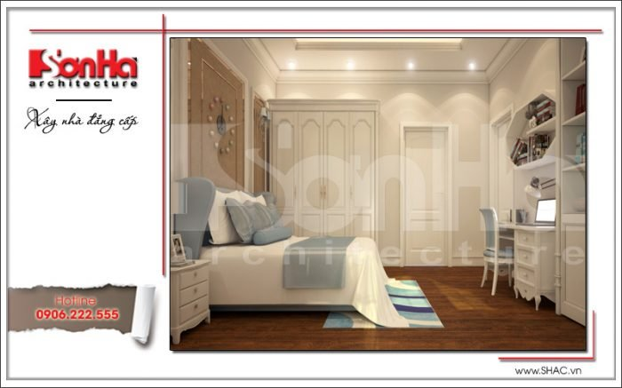 Thiết kế nội thất phòng ngủ con gái Vincom Shophouse tại Hải Phòng