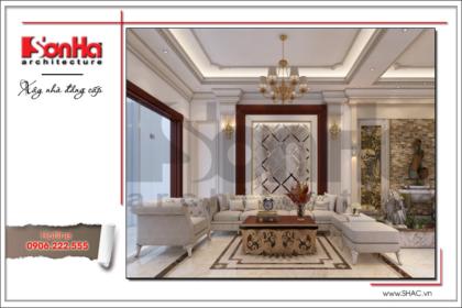 BÌA Thiết kế nội thất phòng khách tầng 1 Vincom Shophouse tại Hải Phòng
