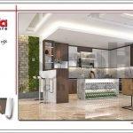 Thiết kế nội thất phòng khách bếp biệt thự tân cổ điển tại Hải Phòng sh btp 0104