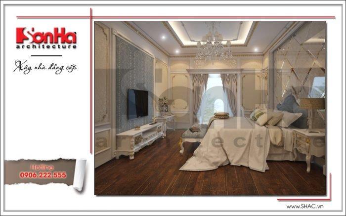Mẫu nội thất phòng ngủ nhà ống cổ điển tại Quảng Ninh sh nop 0141