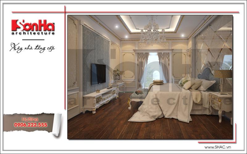 Mẫu thiết kế nhà phố cổ điển 4 tầng đẹp có nội thất tiện nghi tại Quảng Ninh – SH NOP 0141 7