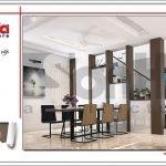 Mẫu thiết kế nội thất phòng khách bếp biệt thự tân cổ điển tại Hải Phòng sh btp 0104