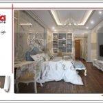 Mẫu Thiết kế nội thất phòng ngủ nhà ống cổ điển tại Quảng Ninh sh nop 0141