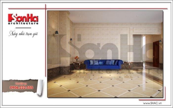 Mẫu thiết kế nội thất sảnh lễ tân khách sạn tại Quảng Ninh sh ks 0037
