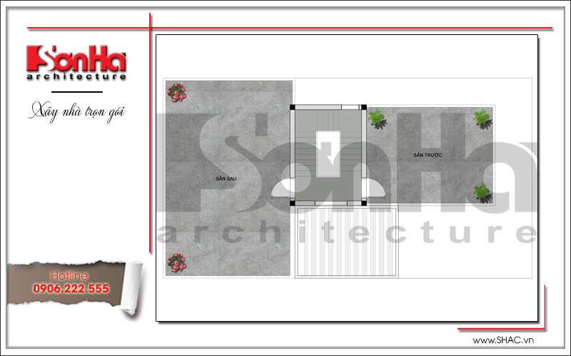 Mẫu thiết kế biệt thự hiện đại 3 tầng trên mảnh đất hình chữ L tại Quảng Ninh – SH BTD 0058 5