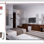 Thiết kế phòng khách sạn đẹp tại Quảng Ninh sh ks 0037
