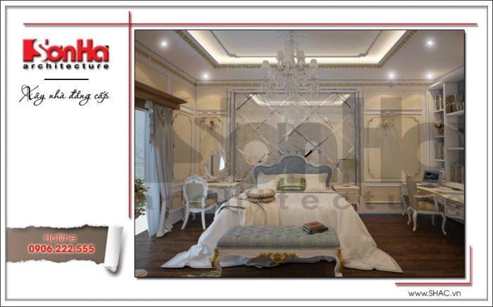Thiết kế nội thất phòng ngủ nhà ống cổ điển tại Quảng Ninh sh nop 0141