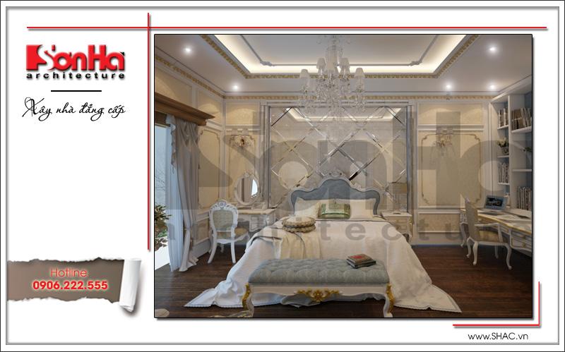 Mẫu thiết kế nhà phố cổ điển 4 tầng đẹp có nội thất tiện nghi tại Quảng Ninh – SH NOP 0141 9