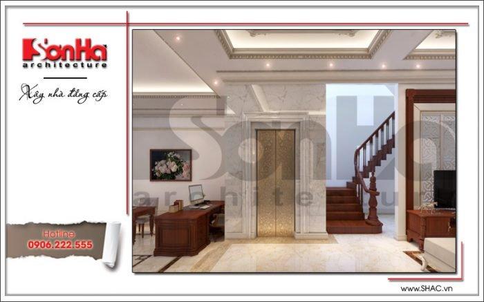 Thiết kế nội thất hành lang tầng 1 Vincom Shophouse tại Hải Phòng