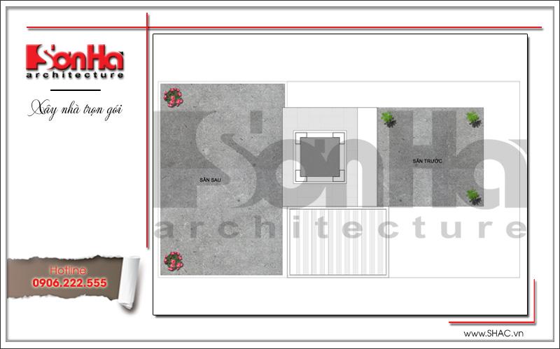 Mẫu thiết kế biệt thự hiện đại 3 tầng trên mảnh đất hình chữ L tại Quảng Ninh – SH BTD 0058 6