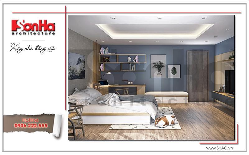 Mẫu thiết kế nội thất phòng ngủ bố mẹ biệt thự tân cổ điển tại Hải Phòng sh btp 0104