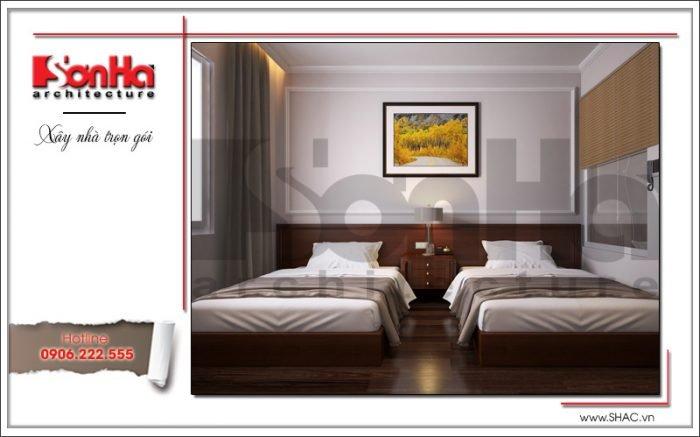 Mẫu Thiết kế nội thất phòng ngủ khách sạn tại Quảng Ninh sh ks 0037