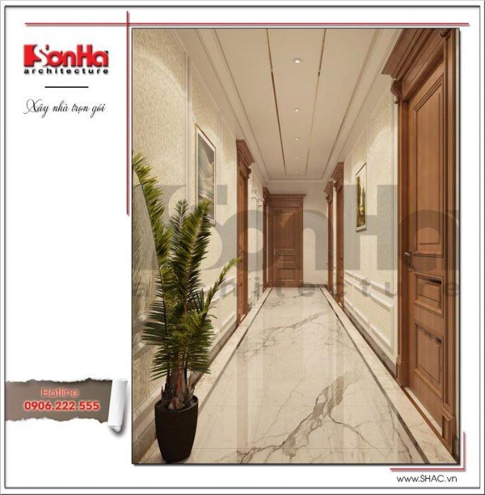 Mẫu thiết kế hành lang khách sạn tại Quảng Ninh sh ks 0037