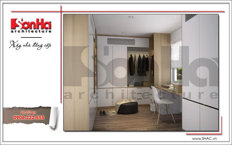 Mẫu nội thất phòng ngủ bố mẹ biệt thự tân cổ điển tại Hải Phòng sh btp 0104