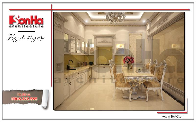 Mẫu thiết kế nhà phố cổ điển 4 tầng đẹp có nội thất tiện nghi tại Quảng Ninh – SH NOP 0141 6