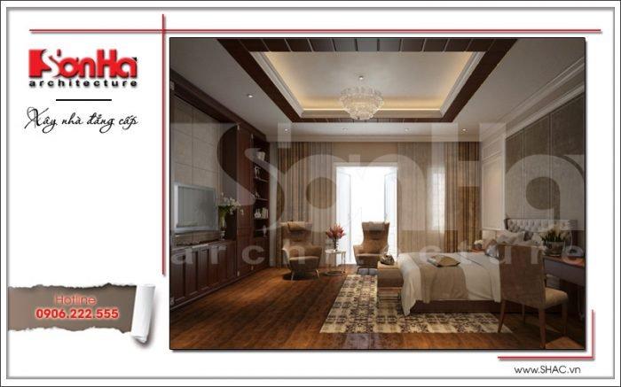 Mẫu thiết kế nội thất phòng ngủ Vincom Shophouse tại Hải Phòng
