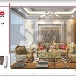 Thiết kế phòng khách đẹp nhà ống cổ điển tại Quảng Ninh sh nop 0141