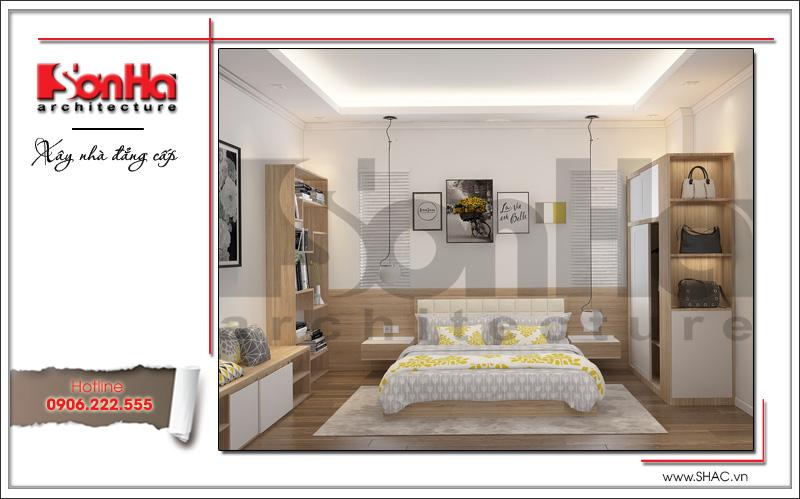 Thiết kế nội thất phòng ngủ con gái biệt thự tân cổ điển tại Hải Phòng sh btp 0104