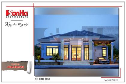BÌA Thiết kế biệt thự 1 tầng hiện đại tại Bắc Ninh sh btd 0056