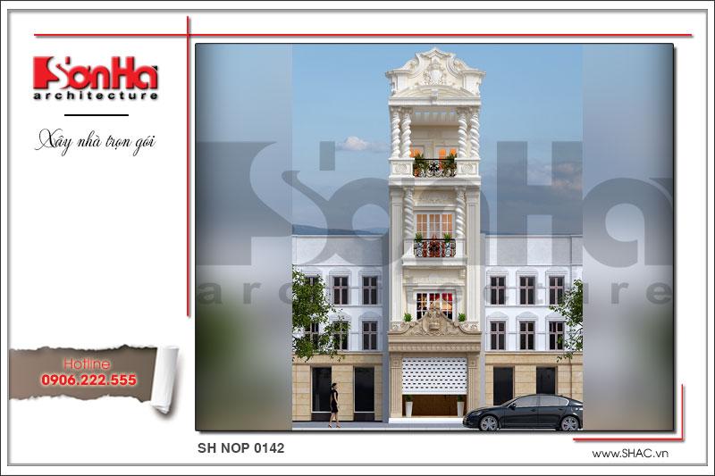 BÌA Thiết kế kiến trúc nhà ống kiến trúc Pháp tại Bắc Giang sh nop 0142