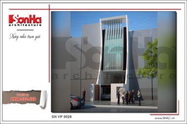 BÌA Thiết kế kiến trúc tòa nhà văn phòng tại Hải Phòng sh vp 0028