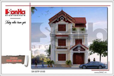 BÌA Thiết kế kiến trúc biệt thự Pháp tại Hải Phòng sh btp 0105