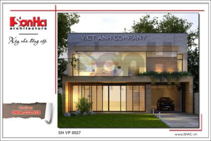 BÌA Thiết kế kiến trúc văn phòng hiện đại tiện nghi tại Lào sh vp 0027