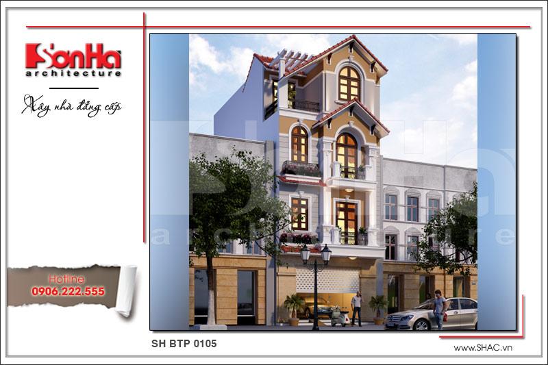 BÌA Mẫu thiết kế kiến trúc nhà ống tân cổ điển tại Bắc Ninh sh nop 0139