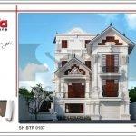 Kiến trúc biệt thự Pháp mái ngói xanh tại Quảng Ninh sh btp 0107