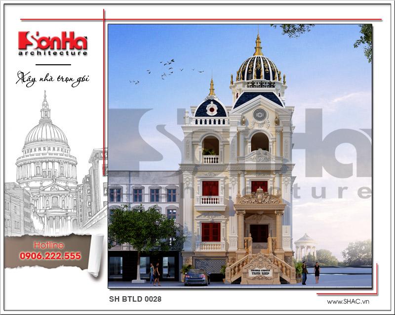 Thiết kế biệt thự lâu đài 2 tầng đẹp tại Lạng Sơn sh btld 0028
