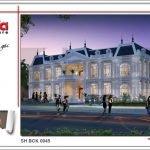 Thiết kế kiến trúc nhà hàng 2 tầng kiến trúc Pháp sang trọng tại Phú Quốc sh bck 0045