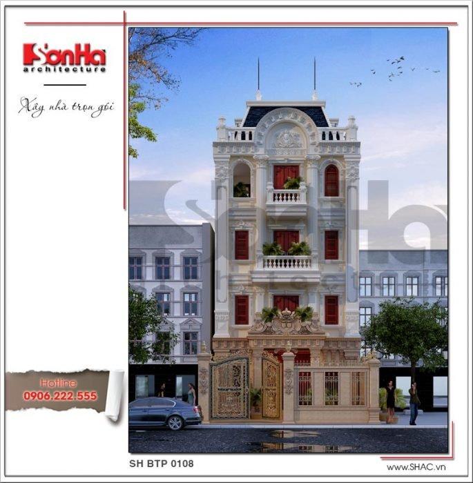 Thiết kế biệt thự Pháp tại Nam Định sh btp 0108