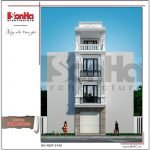 Thiết kế kiến trúc nhà ống kiến trúc Pháp 4 tầng mặt tiền hẹp tại Hải Phòng sh nop 0145