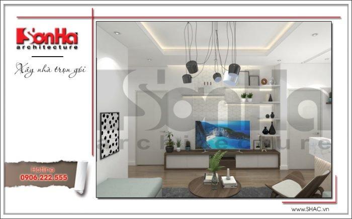 thiết kế nội thất phòng khách chung cư hiện đại