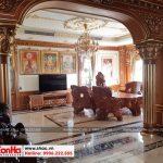 1 Ảnh thực tế nội thất phòng khách biệt thự pháp 4 tầng tại sài gòn sh btp 0109