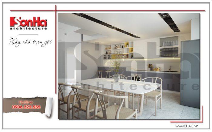 1 Thiết kế nội thất phòng bếp ăn nhà ống hiện đại đẹp tại hà nội sh nod 0174