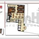 Mặt bằng công năng tầng 14 khách sạn hiện đại tại Đà Nẵng SH KS 0038